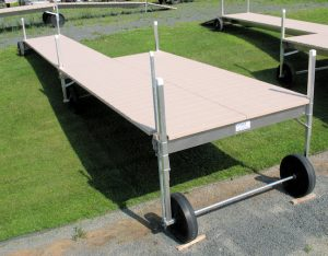 38' Long V-Dock Roll-In with a 8' x 16' Sun Deck 2010