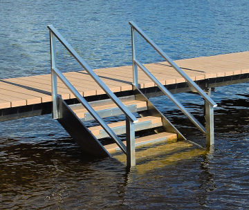 Stairs With Handrailing V Dock R Amp D Manufacturing Inc