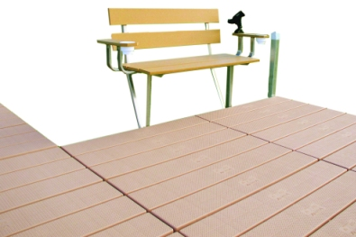 Tan Dock Bench
