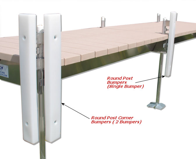Vertical Bumpers for Round Posts