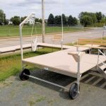 32' Tan V-Dock Roll in with a 8' x 10' Sundeck